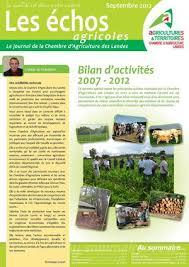 chambre agriculture des landes calaméo bilan d activités 2007 2012 de la chambre d agriculture