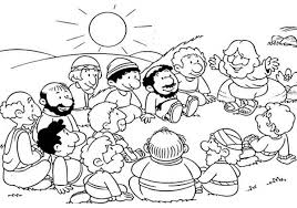 Disciples Jesus Gather With His Colouring Page