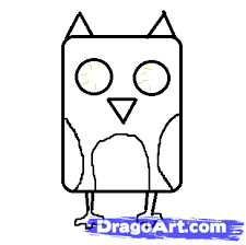 How To Draw A Cute Owl Step 3