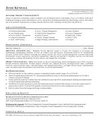 Sample Project Manager Resumes Examples Of Management Resume Objective