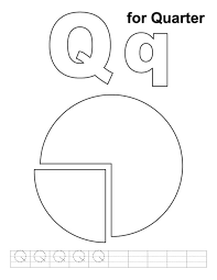 Q For Quarter Alphabet Coloring Pages