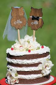 Owl Wedding Cake Topper Mr Mrs