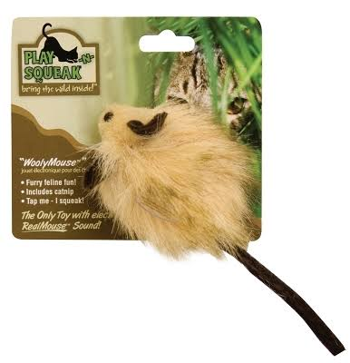 OurPets Play-n-squeak Wooly Mouse Cat Toy