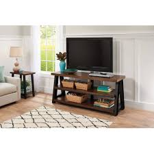Artificial Christmas Tree Stand Walmart by Better Homes And Gardens Mercer 3 In 1 Brown Tv Stand For Tvs Up