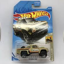 100 Dodge Toy Trucks 2019 HOT WHEELS Tan 87 D100 Pickup Truck Baja Blazers 110
