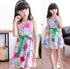 4 5 6 7 8 9 10 11 12 Children Clothing Cotton Dress Teenage Girl One Piece Child Vintage Princess Sleeveless Dresses In From Mother