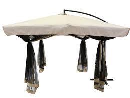 Offset Patio Umbrella W Mosquito Netting by Tms Offset Umbrella With Removable Mosquito Bug Mesh Net 9ft X 9ft