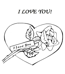 I Love You Coloring Pages Card
