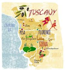 Tuscany Illustrated Map By Steve Taylor