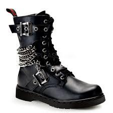 Demonia - Demonia Men's DEFIANT-204 Men's Black Vegan Leather Goth ...