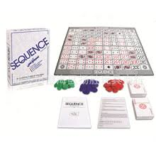 AIBOULLY Sequence English Arabic Version 2 12 Players Board Game Family Party