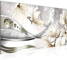 de wandbilder blumen magnolie modern vlies leinwand