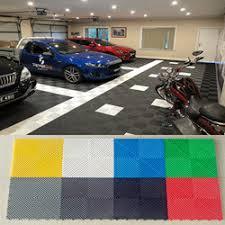 China Portable Outdoor Garage Floor Tile Interlocking PVC Tiles Car Exhibition