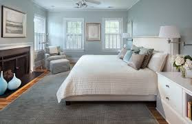 light blue wall bedroom transitional with reading l white