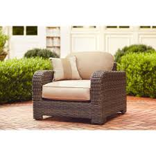 Outdoor Bench Cushions Home Depot by Brown Jordan Northshore Patio Lounge Chair With Harvest Cushions