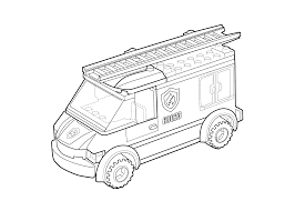 Lego Fire Truck Coloring Pages - ColoringStar