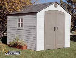 sentinel 8 x 10 plastic storage shed by lifetime storage sheds