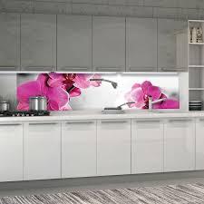 vlies fototapete küche rosa orchidee küchetapete tapete