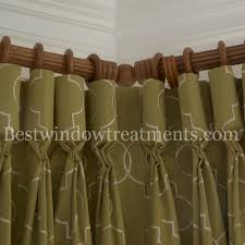 Traverse Rod Curtain Panels by Corner Curtain Rods Bestwindowtreatments Com