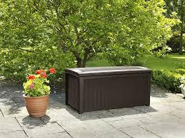Keter Glenwood 390 Litre Deck Box by Keter Kissenbox Regenfest Kissenbox Borneo Braun 416l