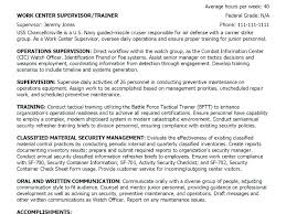 Military Experience On Resume Example Summary Statement Download