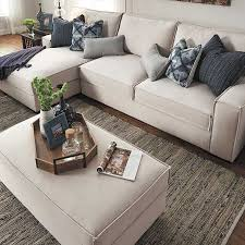 furniture ethan allen sectional sofas in beige with decorative
