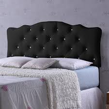 Wayfair Upholstered Queen Headboards by Wholesale Interiors Rita Black Scalloped Queen Upholstered Panel