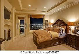 chambre a coucher de luxe maison luxe chambre à coucher ville nuit nouveau image