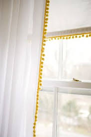 Plum And Bow Blackout Pom Pom Curtains by Looking To Transform Your Plain White Curtains Give Them A Style