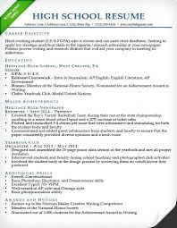 High School Resume Examples For College Sample Student Resu