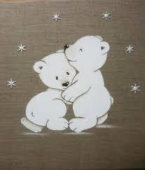 tableau ourson chambre bébé tableau enfant personnalisé ours polaire