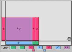 factoring with algebra tiles algebra lessons pinterest