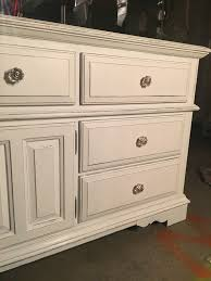 20 year old broyhill oak dresser painted with black chalk paint