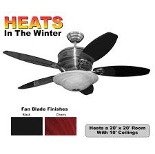 Brushed Nickel Ceiling Fan by Reiker Legend Brushed Nickel Ceiling Fan Heater