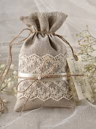 Custom Listing Rustic Linen Wedding Favor Bag Lace Bags Thank You Gift