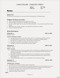 Sample Resume Examples Administrative Correspondence Fresh Adorable Assistant 2017