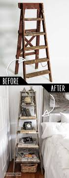We Could Make A Really Cheap Place Awesome Pretty Easily Step Ladder Side Table DIY