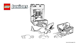 Lego Juniors Pirates Shark Coloring Pages Print Download 203 Prints