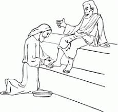 Jesus Washes The Disciples Feet To Print And Color