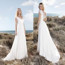 discount rembo styling beach wedding dresses with cap sleeves v