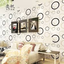1M Modern Black White Circle Self Adhesive Wallpaper For Bedroom Home Decor 3d Wall Paper Flowers