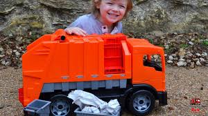 100 Big Toy Dump Truck Worlds BIGGEST Garbage L Unboxing And Play For Kids L