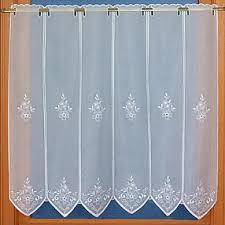 rideau de cuisine brise bise rideaux de cuisine brise bise en voilage brodé