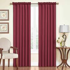 Sound Dampening Curtains Three Types Of Uses by Eclipse Samara Blackout Energy Efficient Curtain Walmart Com