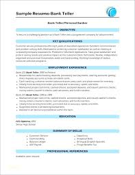Sample Resume Bank Teller No Experience Skills Warehouse Management With For