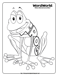 WordWorld 1 Free Disney Coloring Sheets With Word World Pages