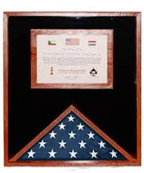 This Flag Display Cases With Certificate Holder Boxes Cherry And Document Case Will Hold A 3 X 5 In The 8 1 2 11