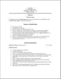 Call Center Resume Sample No