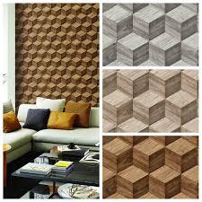 vlies tapete 3d effekt illusion holzwürfel wood cubes beige