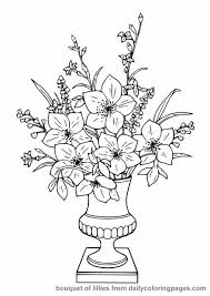 Perfect Flower Coloring Pages Free 88 In Picture Page With
